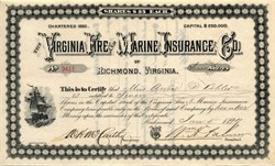 Virginia Fire and Marine Insurance Company - Virginia 1896