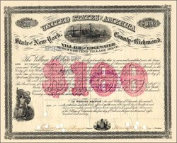 Staten Island, New York 1870 - Scarce