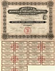 Vietnam Match Company - SOCIÉTÉ DÉS SCIERIES ET FABRIQUES D'ALLUMETTES DÉ THANH-HOA - Hanoi, French Indo China 1913