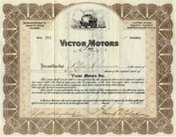 Victor Motors Inc. - Delaware 1923