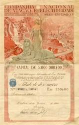 Companhia Nacional Viacao National Electricity Company - Portugal  1920