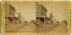 Santa Barbara State Street Photograph Card - California 1875