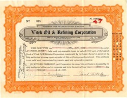 Vitek Oil & Refining Corporation - Delaware 1927
