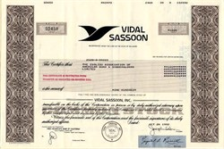 Vidal Sassoon, Inc. - Delaware 1982