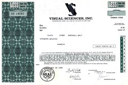 Visual Sciences, Inc. - New York 1982