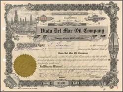 Vista Del Mar Oil Company 1921 - Los Angeles, California