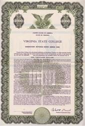 Virginia State College Dormitory Revenue Bond - Petersburg, Virginia 1960