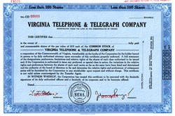 Virginia Telephone & Telegraph Company - Virginia