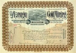 Viznaga Gold Mining Company - Arizona 1903
