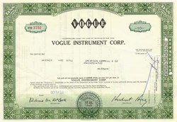 Vogue Instrument Corp. - New York 1968