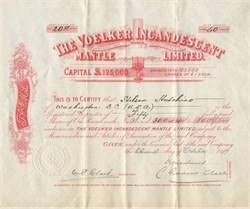 Voelker Incandescent Mantle Limited -  England 1899