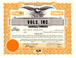 Vols, Inc. (Double A Minor League Baseball Team) - Nashville, Tennessee 1959