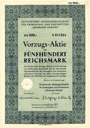 """Reichswerke Aktiengesellschaft für Erzbergbau und Eisenhütten """"Hermann Göring"""" - Nazi munitions and tank factory - Germany 1939"""