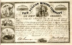 Vulcan Mining Company of New Jersey - Ontonagon County, Michigan - 1848