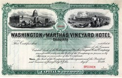 Washington and Martha's Vineyard Hotel Company - 1894