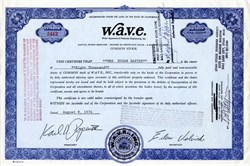W.A.V.E. - Water Apparatus & Vehicular Engineering, Inc. - Surfboard Maker - Karl Pope, President  (formerly of Morey-Pope Surfboards)- California, 1974