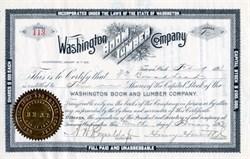 Washington Boom and Lumber Company  signed by Henry Hewitt Jr. (Founded Everett)  - Tacoma, Washington 1893