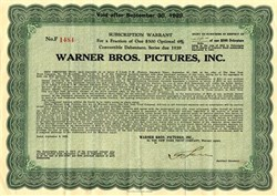 Warner Bros. Pictures, Inc. - New York 1929