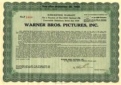 Warner Bros. Pictures, Inc. - New York 1929