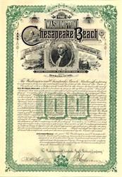 Washington and Chesapeake Beach Railway Company - Maryland 1893