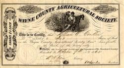 Wayne County Agricultural Society (Now Wayne County Fair ) - Honesdale, Pennsylvania 1862
