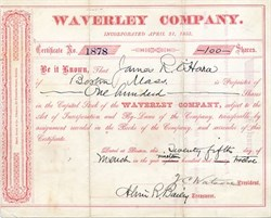 Waverley Company - Boston, Massachusetts 1912