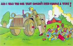 "WAC Postcard ""And I Was the One That Couldn't Even Change a Tire!"""