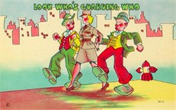 "W.A.C. Postcard ""Look who's guarding who"""