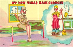 "WAC Postcard ""My how the times have changed"""