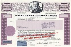 Walt Disney Productions - Printers Test Certificate - 1986