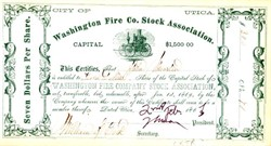 Washington Fire Company Stock Association - 1867