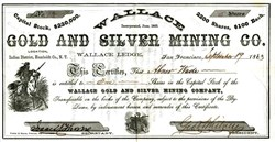 Wallace Gold and Silver Mining Co. - Indian District, Humboldt Co.,  Nevada Territory 1863