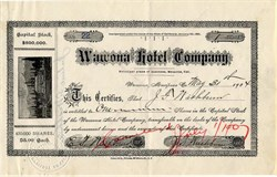 Wawona Hotel Company of Yosemite National Park (Rare)  - California 1904