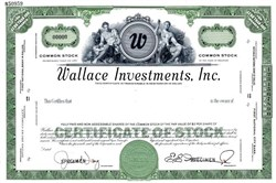 Wallace Investments, Inc. - Delaware