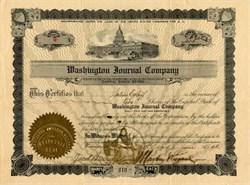 Washington Journal Company - Washington DC 1911