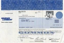 Warner Lambert Company - Delaware