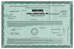 Wang Laboratories, Inc. Computer Company  (Warrant)  - New York