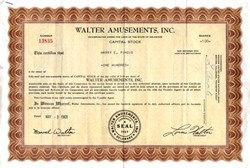 Walter Amusements, Inc.