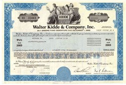 Walter Kidde & Company - Fire and Safety Products Company 1978