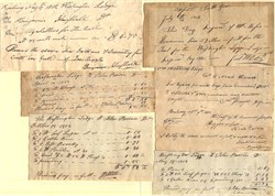 Washington Lodge of Freemasons, Roxbury, Massachusetts (Group of 6 signed receipts) - 1802