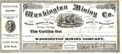 Washington Mining Company - Grass Valley Mining District, Nevada Co., Cal 1873