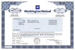 Washington Mutual  (Largest bank failure in American financial history) - Washington