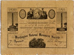 Washington National Monument Society 1849