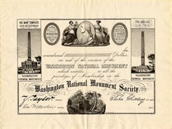 Washington National Monument Society - Washington, D.C.  1849