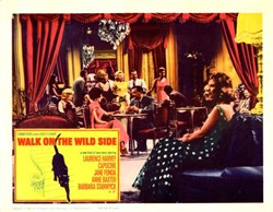 Walk on the Wild Side Lobby Card Starring Laurence Harvey, Capucine, and Jane Fonda - 1962