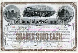 Wagner Palace Car Company (Major competitor to the Pullman's Palace Car) signed by William Seward Webb - 1898