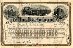 Wagner Palace Car Company issued to William K. Vanderbilt - New York 1890