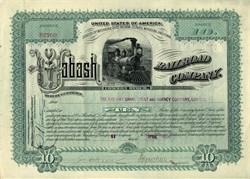 Wabash Railroad Company - Michigan 1890