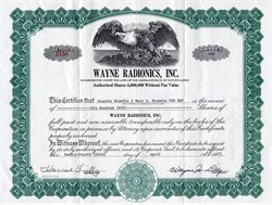 Wayne Radionics, Inc. - 1973