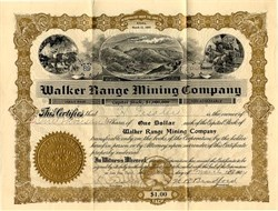 Walker Range Mining Company - Arizona 1907